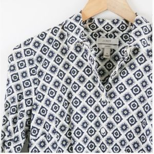 J. Crew 'Perfect' Geometric Print Stretch EUC